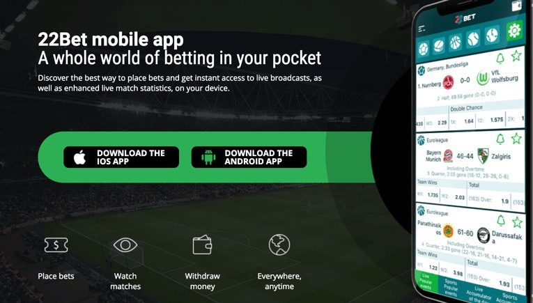 22Bet mobile